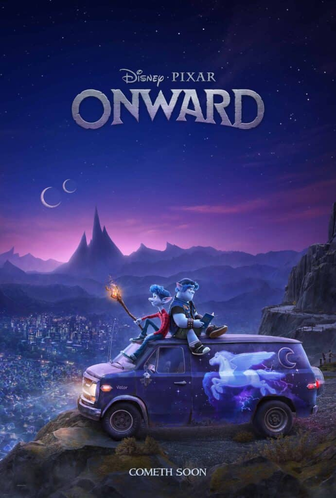 movie poster for Disney Pixar Onward