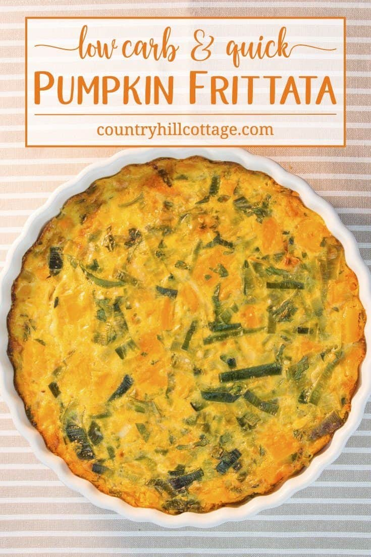 Pumpkin Frittata | Quick and Low Carb Recipe