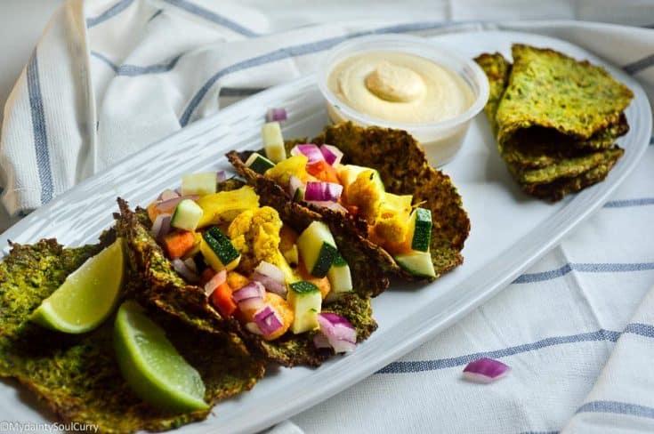 Vegan Low-carb Zucchini Tortillas/Rotis