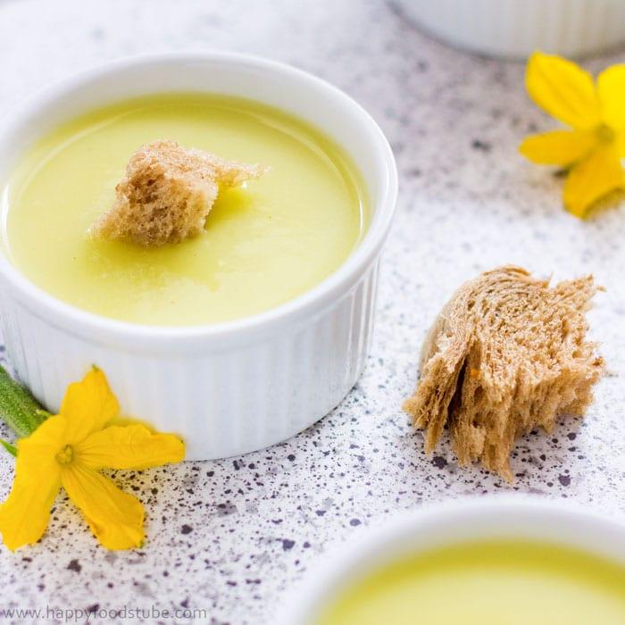 Easy Creamy Zucchini Soup Recipe