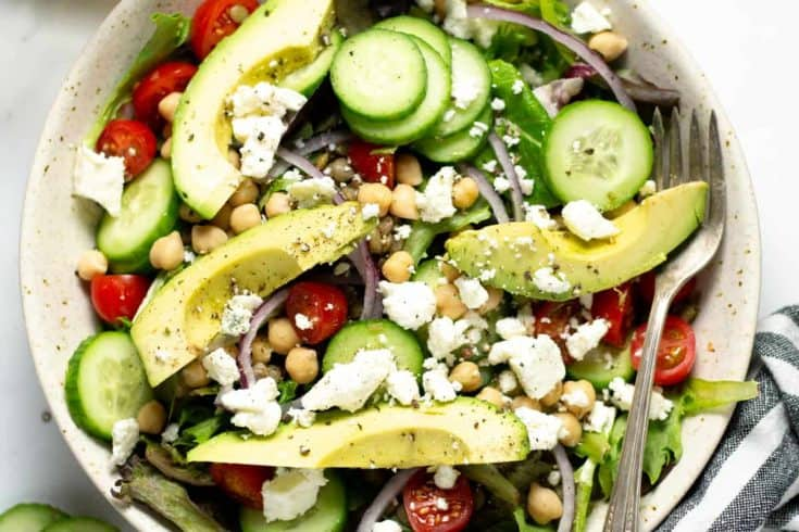 Easy Greek Salad for One