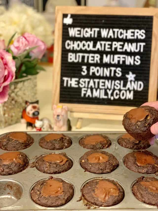 Weight Watchers Chocolate Peanut Butter Muffins – Just three points each