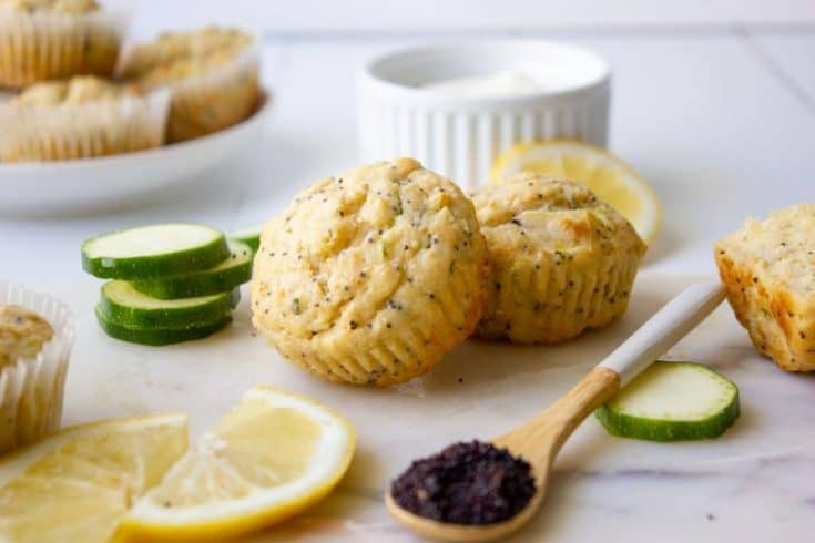 Delicious Lemon and Poppy Seed Muffins with Zucchini