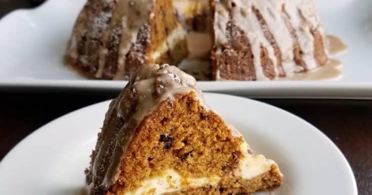 Cheesecake Stuffed Pumpkin Bundt Cake