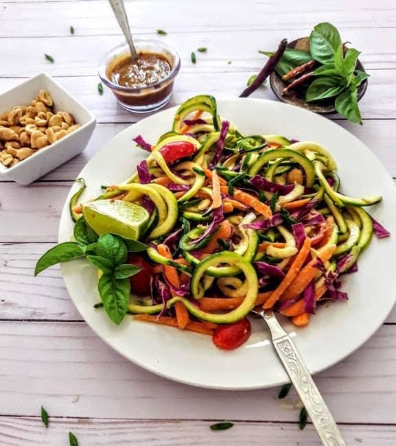Thai Zucchini Noodles-ProfusionCurry