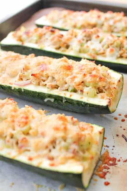 Roasted Zucchini Tuna Melts - Easy dinner recipe