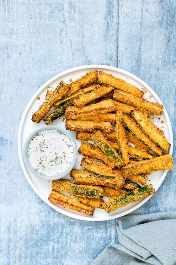 Air Fryer Zucchini Fries {Low Carb, Keto, Gluten Free}