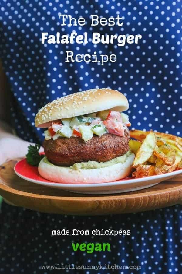 Chickpea Falafel Burger (Vegan)