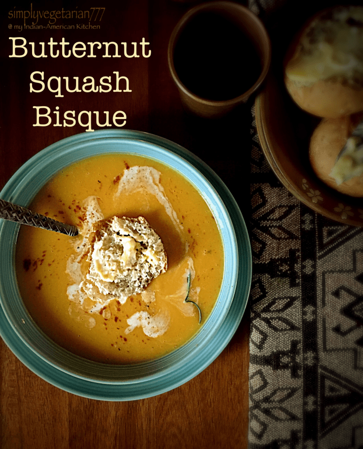 Butternut Squash {pumpkin} Bisque - A perfect Fall / Autumn Recipe