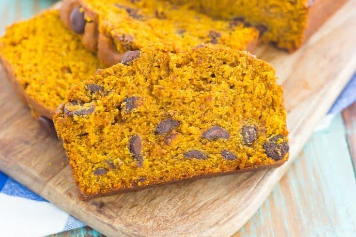 Pumpkin Spice Peanut Butter Bread