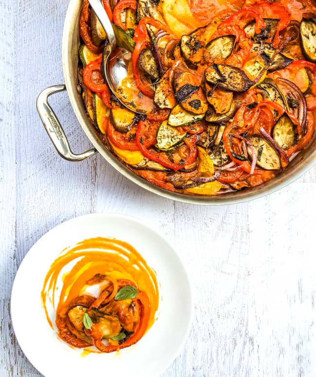 No carbs, no gluten, this classic ratatouille recipe has lots of flavour.