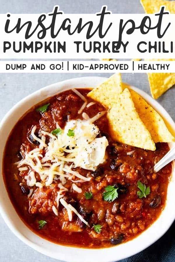 Instant Pot Turkey Pumpkin Chili