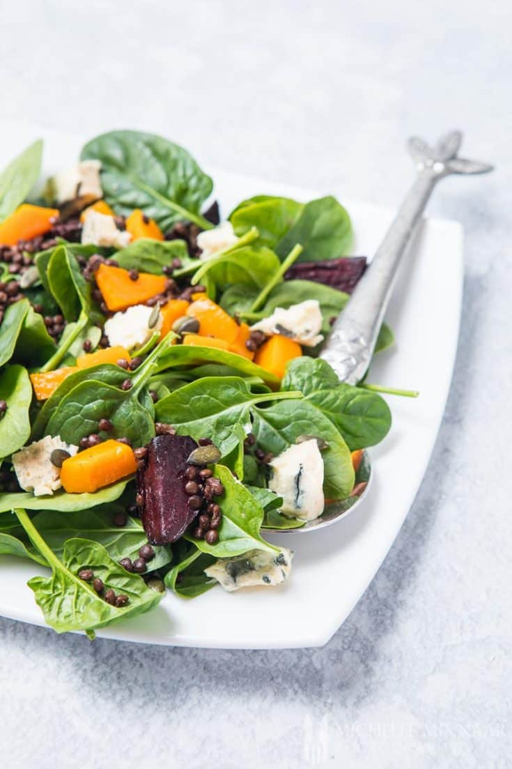 Pumpkin and Beetroot Salad - make this tasty & seasonal vegetable salad