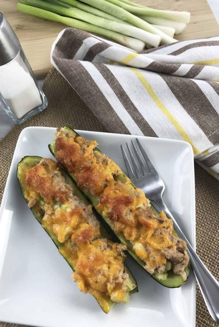 Tuna Melt on Zucchini