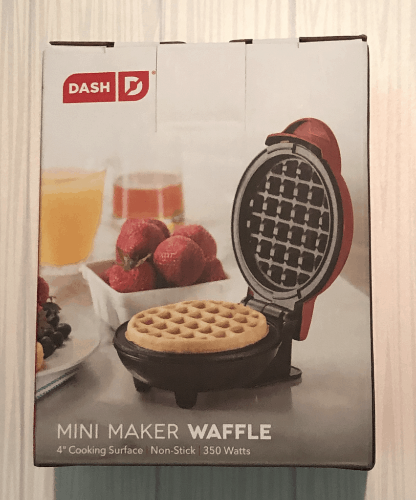 Close up of waffle box