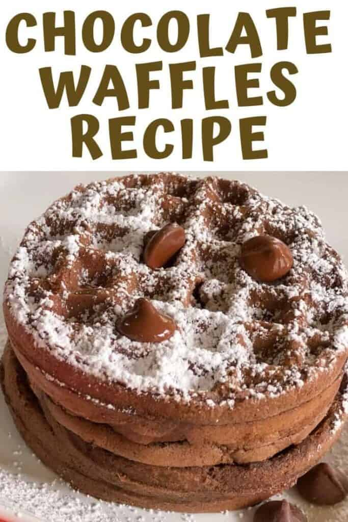 A large pile of chocolate waffles