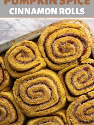 A close up of a cinnamon rolls