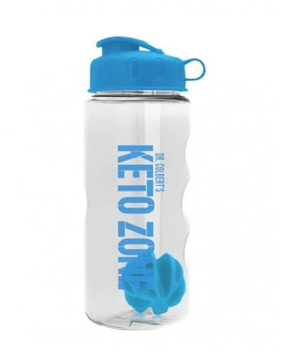 Divine Health Dr.Colbert's Keto Zone Shaker Bottle (BPA Free) - Works Great with MCT Oil Powder, Instant Ketones & Collagen Powder