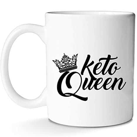 Keto Coffee Mug Funny Cute Diet Gift for Queen Mom Sisters Women Divas and Lo Carb Lovers|Keep Calm AF With This Prime Mug by Mugish 11oz