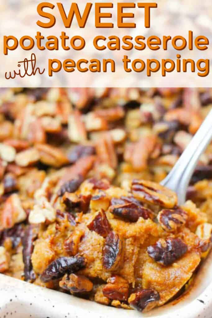 A close up of sweet potato casserole