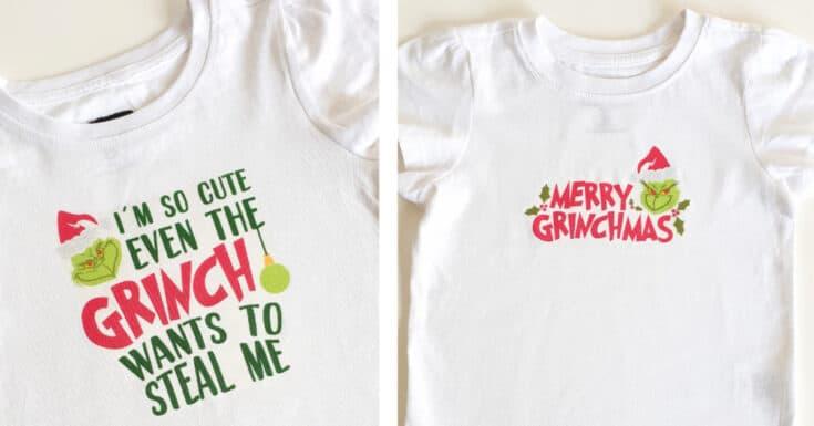 DIY Grinch Shirt | A Grinch Craft Using A Cricut Machine