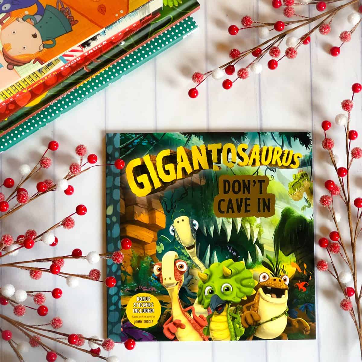 Gigantosaurus and Book