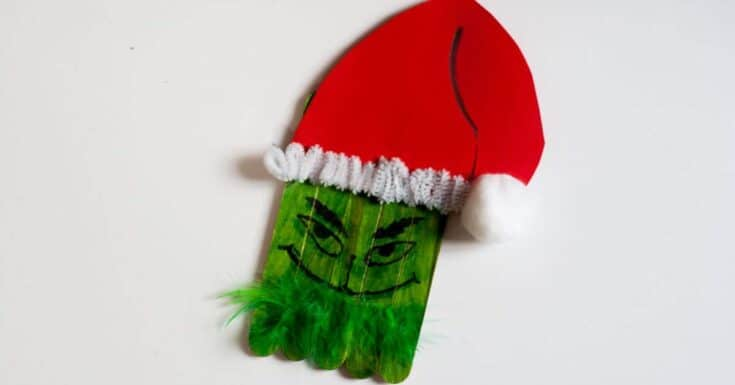 Easy Grinch Christmas Craft for Kids