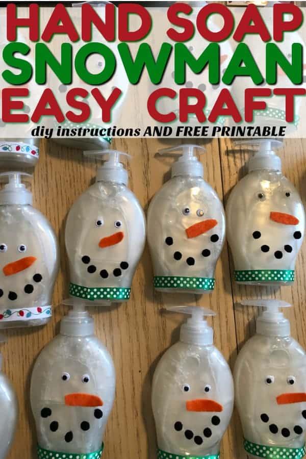 Snowman soap craft