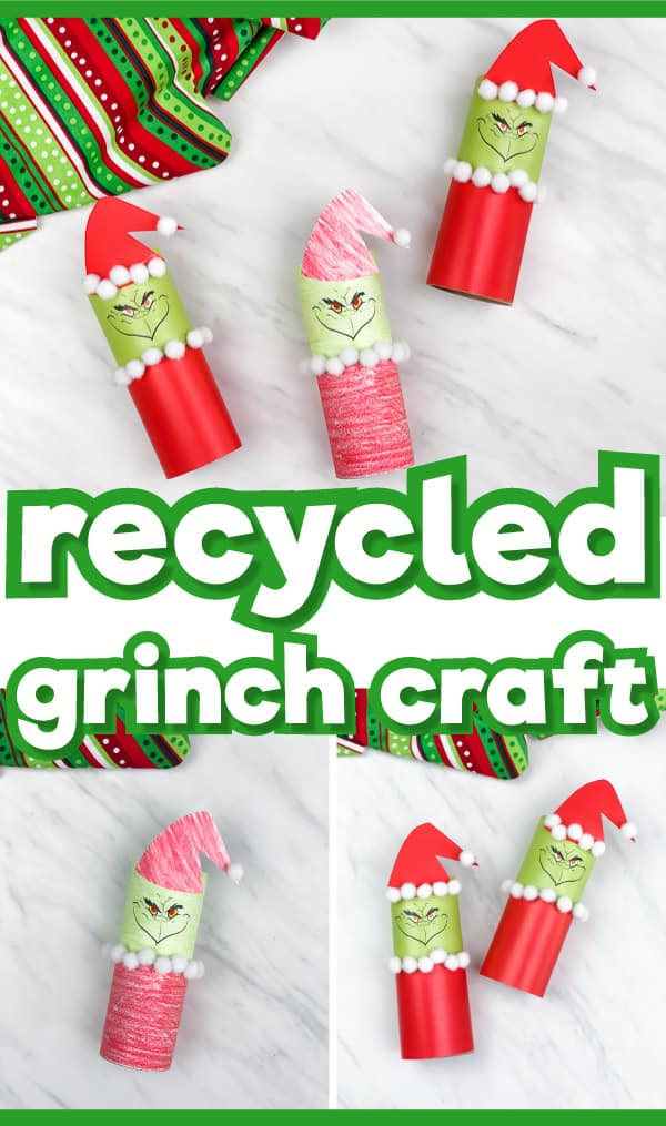 Toilet Paper Roll Grinch Craft For Kids